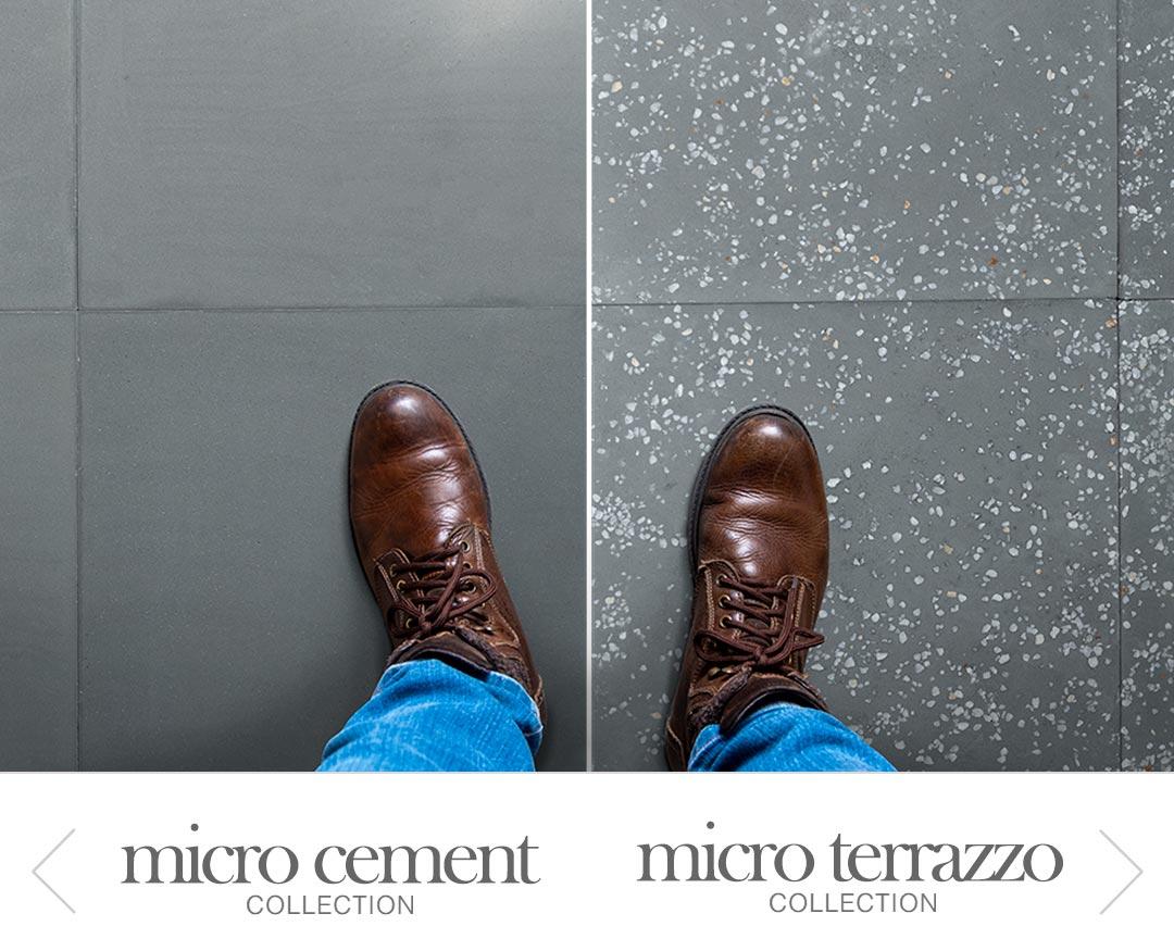 micro cement, micro terrazzo