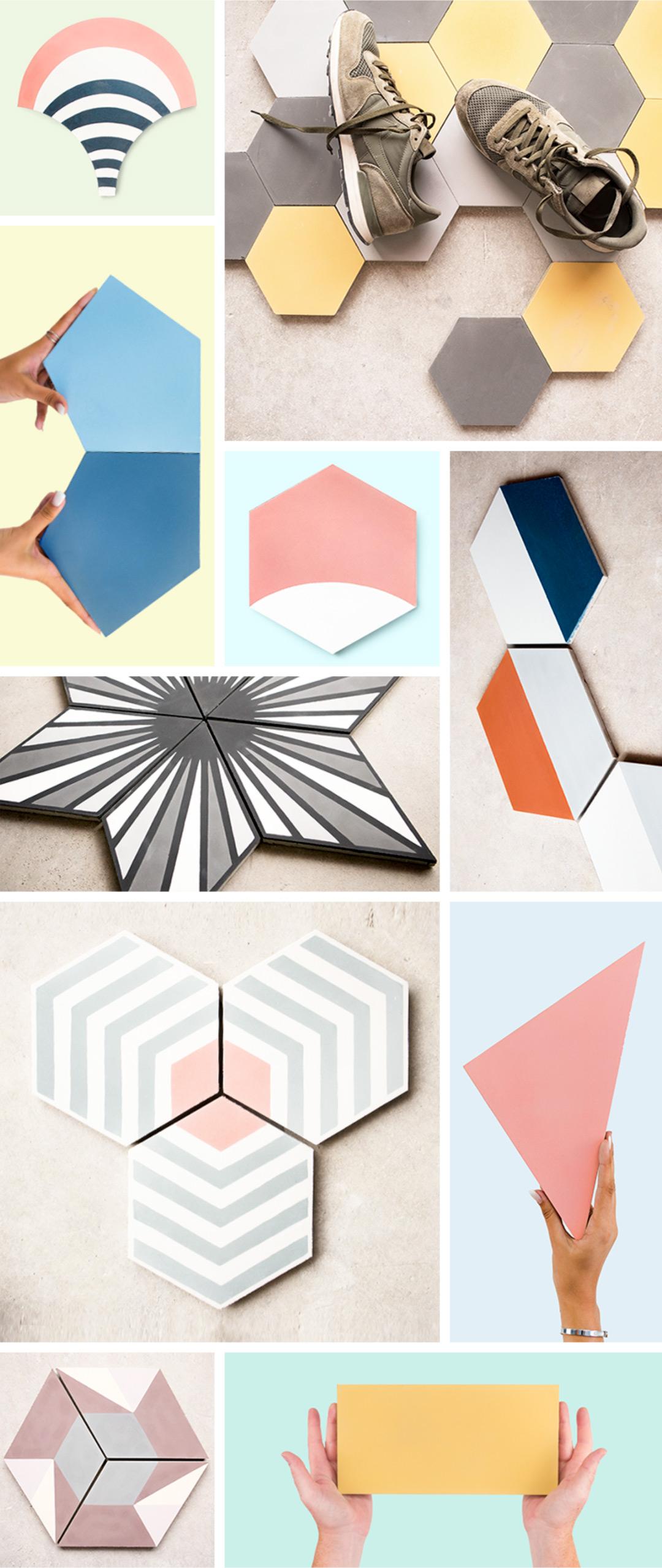 shapes cement tiles